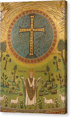 Italy, Ravenna Mosaic Depicting St Canvas Print by Jaynes Gallery