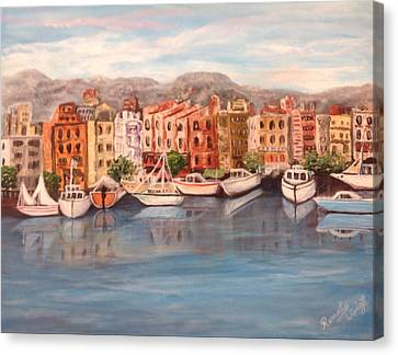 Canvas Print featuring the painting Italy by Renate Voigt