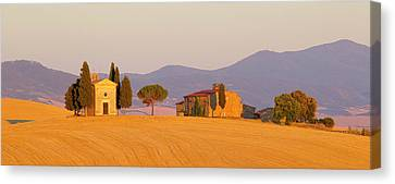 Italy, Tuscany Little Chapel At Sunset Canvas Print by Jaynes Gallery