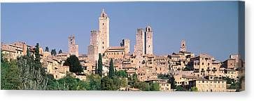 Italy, Tuscany, Towers Of San Canvas Print by Panoramic Images