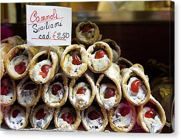 Italy, Venice Cannoli For Sale Seen Canvas Print by Jaynes Gallery