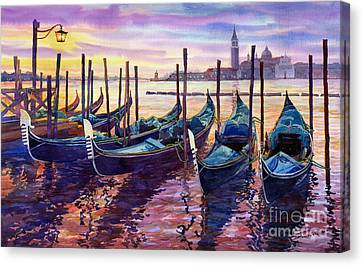 Italy Venice Early Mornings Canvas Print by Yuriy Shevchuk