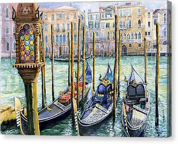 Italy Venice Lamp Canvas Print