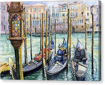 Italy Venice Lamp Canvas Print by Yuriy Shevchuk