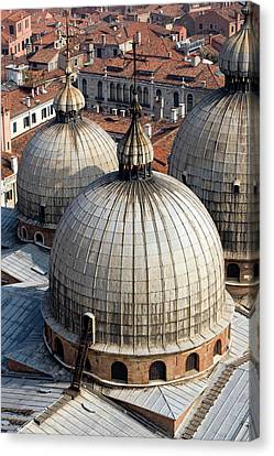Italy, Venice Looking Down On The Domes Canvas Print