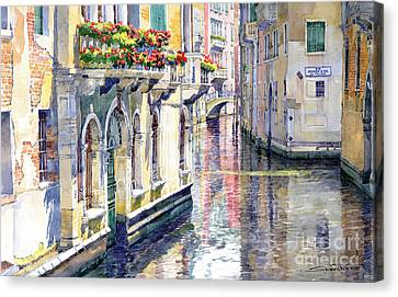 Italy Venice Midday Canvas Print by Yuriy Shevchuk