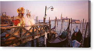 Italy, Venice, St Marks Basin, People Canvas Print by Panoramic Images