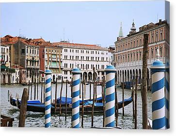 Italy, Venice View Of The Grand Canal Canvas Print