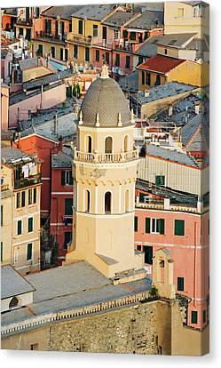 Italy, Vernazza Elevated View Canvas Print