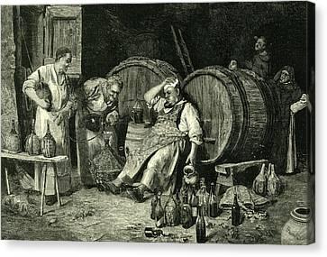 Italy Wine Tasting 1881 Canvas Print