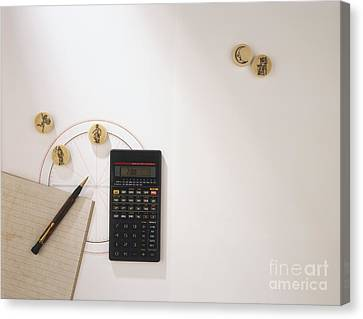 Items Needed To Calculate Astrological Canvas Print by Dorling Kindersley