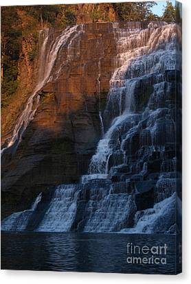 Ithaca Falls In Autumn Canvas Print by Anna Lisa Yoder