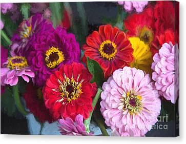 Finger Lakes Canvas Print - Farmer's Market Flowers II by Michele Steffey