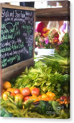 Finger Lakes Canvas Print - Farmer's Market Produce Stall II by Michele Steffey
