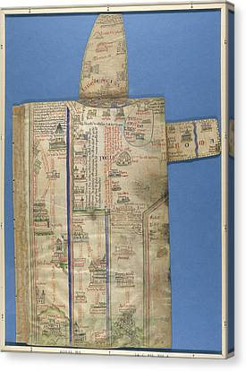 Itinerary London To Jerusalem Canvas Print by British Library