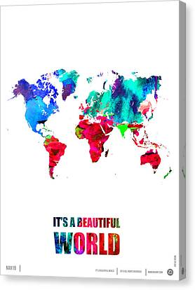 It's A Beautifull World Poster Canvas Print by Naxart Studio