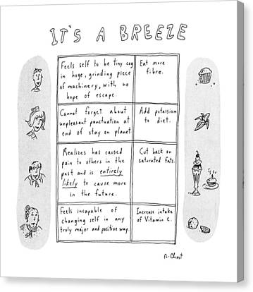 Etc Canvas Print - It's A Breeze by Roz Chast