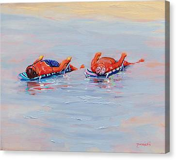 Its A Hot One Canvas Print by Laura Lee Zanghetti