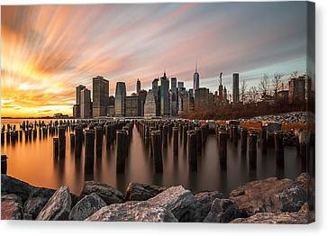 Canvas Print featuring the photograph Its A New Year  by Anthony Fields