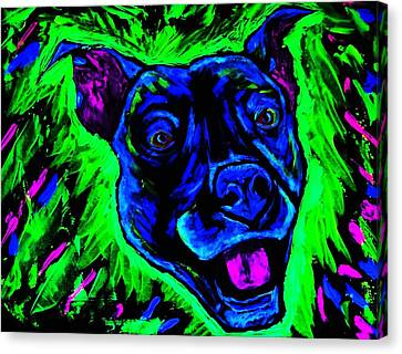 It's A Pitty Black Light Canvas Print