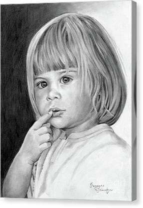 Juvenile Art Canvas Print - It's A Secret by Suzanne Schaefer