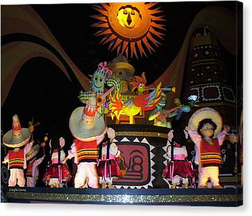 It's A Small World With Dancing Mexican Character Canvas Print by Lingfai Leung