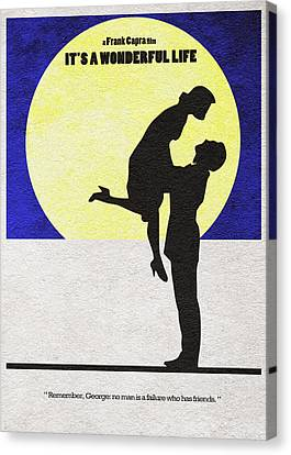 Odd Canvas Print - It's A Wonderful Life by Inspirowl Design