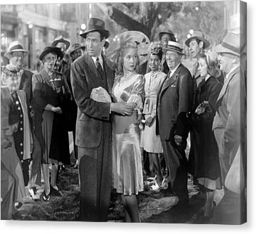 Its A Wonderful Life, Center From Left Canvas Print by Everett