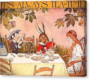 It's Always Tea-time Canvas Print by John K Woodruff