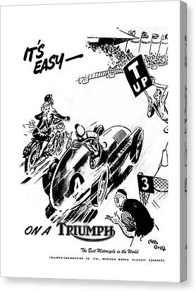 It's Easy On A Triumph Canvas Print by Mark Rogan