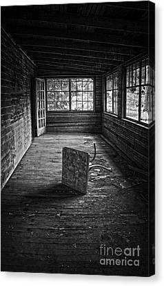 Canvas Print featuring the photograph It's Empty Now by Debra Fedchin