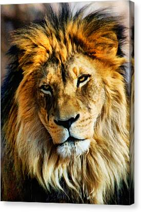 Its Good To Be King Portrait Canvas Print by Angelina Vick