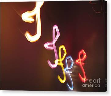 Canvas Print featuring the photograph It's I... I... And More Of I. Dancing Lights Series by Ausra Huntington nee Paulauskaite