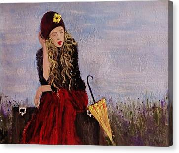 Canvas Print featuring the painting It's Just A Dream... by Cristina Mihailescu