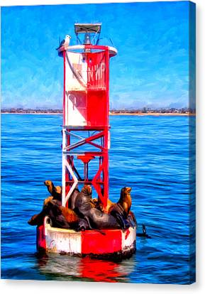 It's Lonely At The Top Canvas Print by Michael Pickett