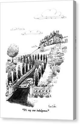 Driver Canvas Print - It's My One Indulgence by Dana Fradon