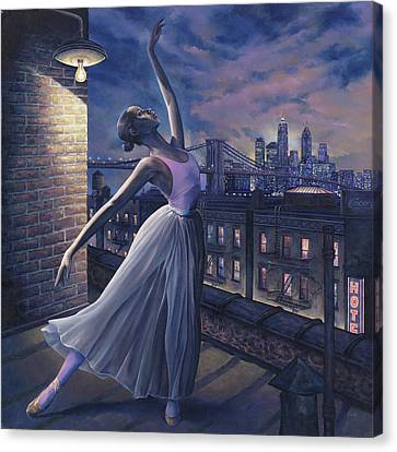 Ballerinas Canvas Print - It's Never Too Late by Dennis Goff