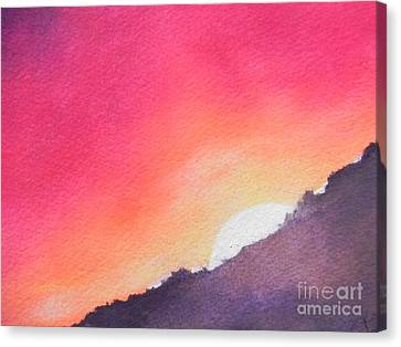 Canvas Print featuring the painting It's Not About The Climb  Rather What Awaits You On The Other Side by Chrisann Ellis