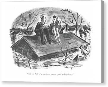 It's One Hell Of A Way For A Guy To Spend A Shore Canvas Print by Whitney Darrow, Jr.