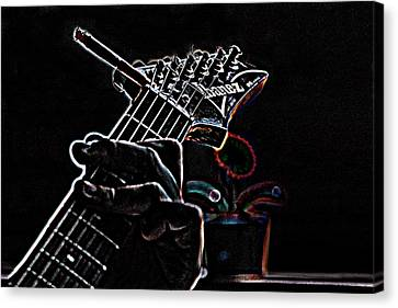 Canvas Print featuring the photograph It's Only Dangerous On The Solos by Bartz Johnson