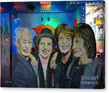 Its Only Rock And Roll Canvas Print by Judy Kay