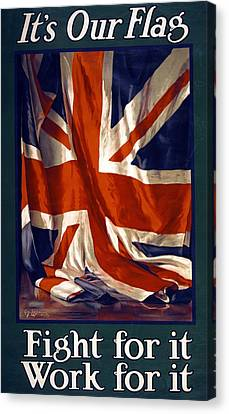 It's Our Flag Canvas Print by Guy Lipscombe