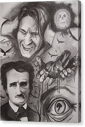 It's The Beating Of That Hideous Heart-edgar Allan Poe Canvas Print by Amber Stanford