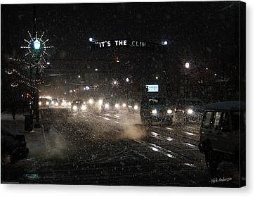 Its The Climate - Christmas Snow Canvas Print by Mick Anderson