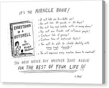It's The Miracle Book! Canvas Print by Roz Chast
