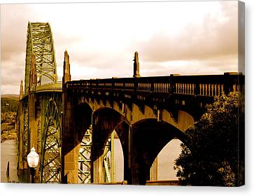 It's Water Under The Bridge 2  Canvas Print by Sheldon Blackwell