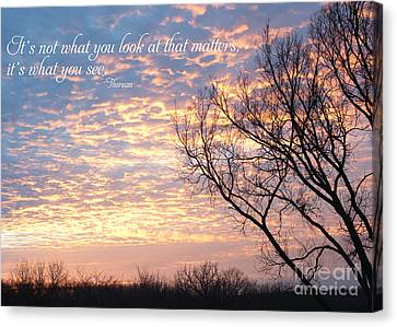 It's What You See Canvas Print by Kay Pickens