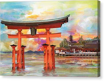 Itsukushima Shrine Canvas Print by Catf