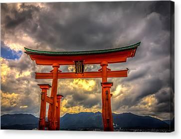 Floating Torii Canvas Print - Itsukushima Shrine by Gary Fossaceca