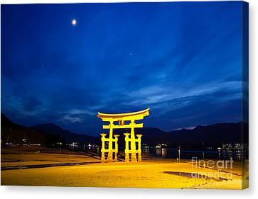 Miyajima Canvas Print - Itsukushima Shrine On Miyajima Island Japan by Fototrav Print